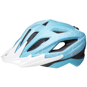 KED Street MIPS Helm Kinder turquoise/white matte